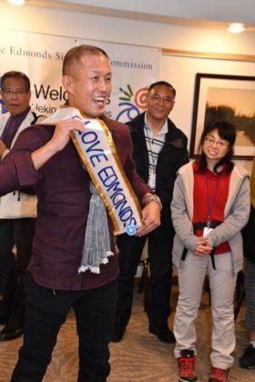 Delegate Masahiro Suzuki clearly loves Edmonds.