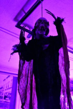 A ghoul greets visitors to the Haunted Museum.