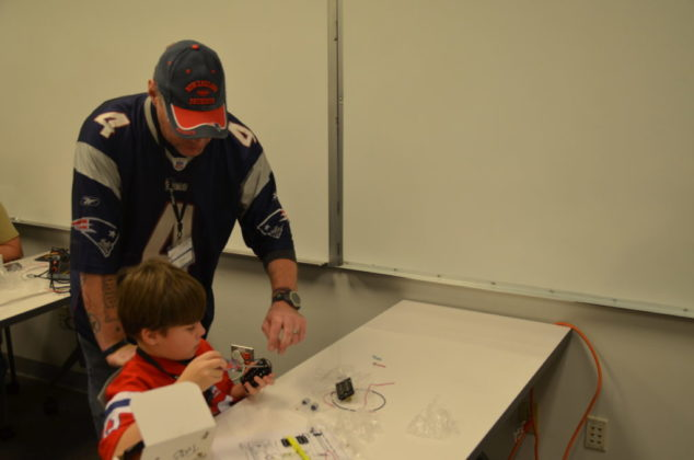 James Minor and his son Troy made the workshop a father-son experience.