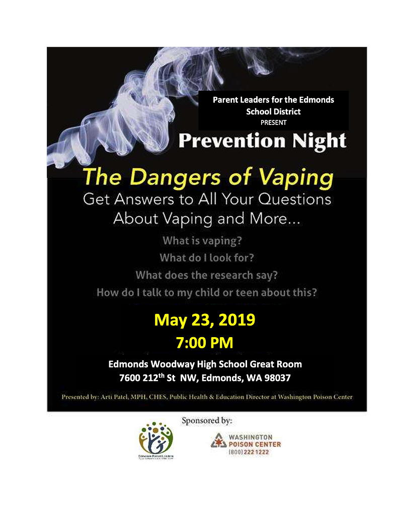 The Dangers of Vaping' topic of ESD Parent Leaders