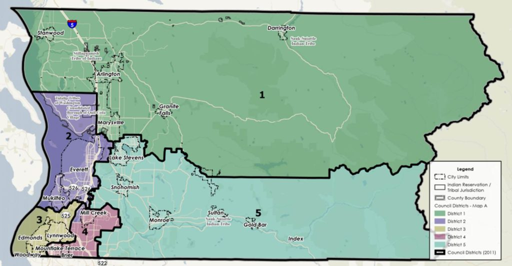 Public hearing Oct. 27 on proposed Snohomish County Council district map changes